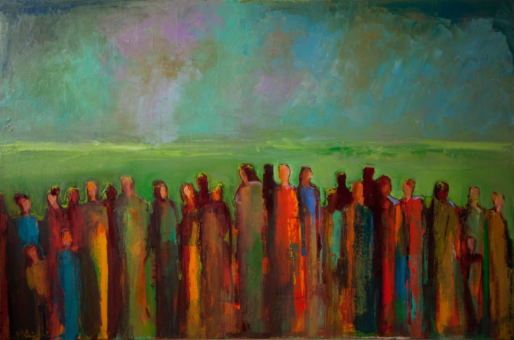 abstract figurative, group, contemporary