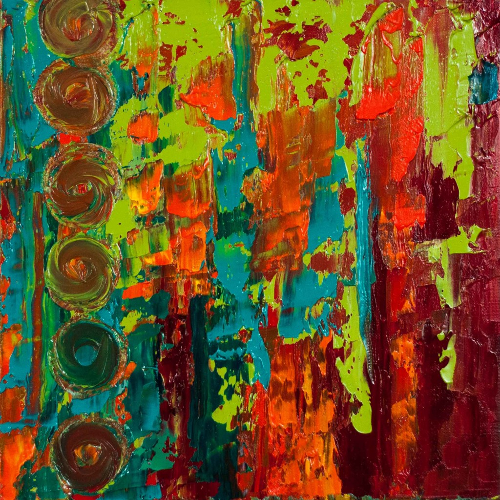 abstract oil painting, vivid color, texture, beauty