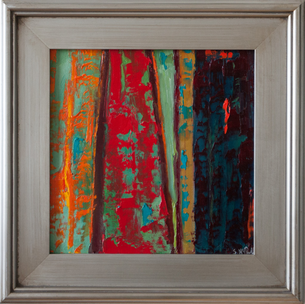 abstract oil painting, urban, industrial,