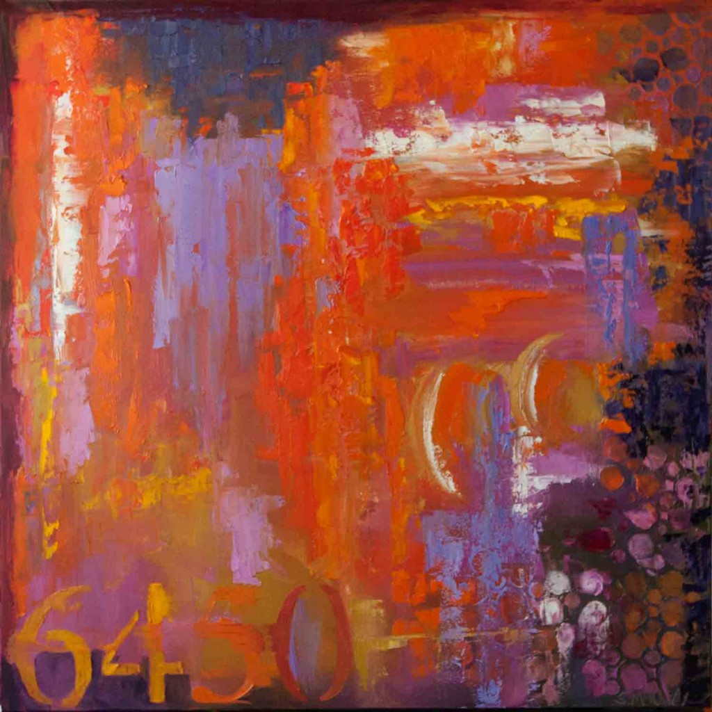 abstract, oil painting, orange, excitement, colorful painting, vivid, contemporary artwork