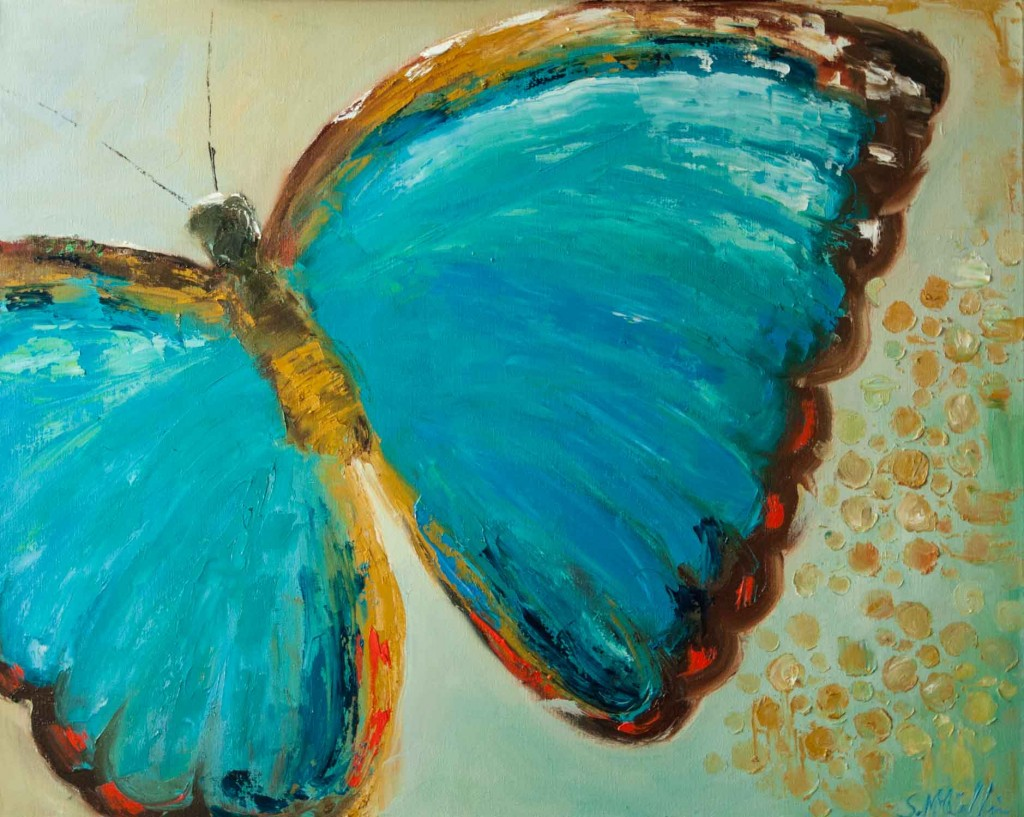 butterfly painting, blue butterfly, art for sale, insect, wings, fly, bug,