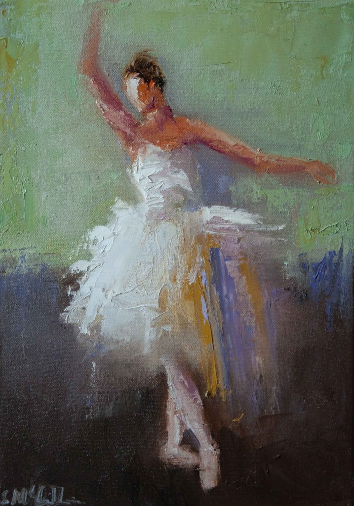 contemporary figurative, dancer, ballet, movement, oil painting, performing arts,