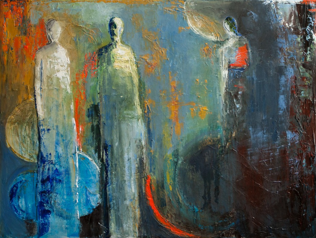 abstract figurative, colorful,