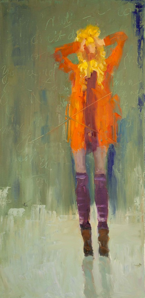 Abstract Figurative Oil Painting 'The Voices in my Head'