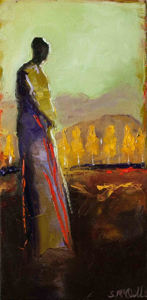 abstract figurative, oil painting, fall, autumn, contemporary figurative, warm colors