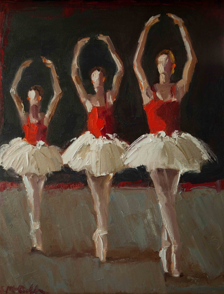 abstract figurative oil painting, ballet, dancers, women, contemporary, expressive, performing arts,
