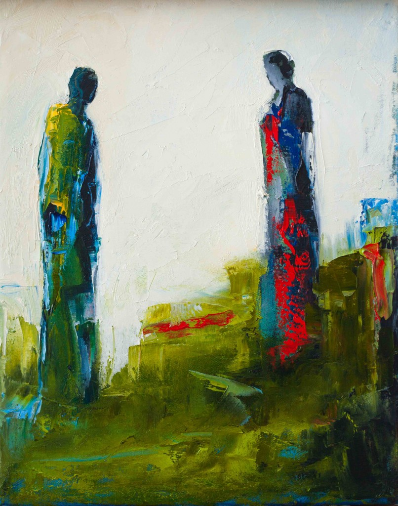 abstract figurative oil painting