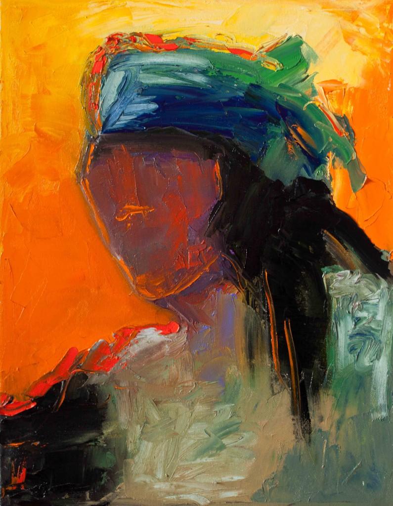 abstract, portrait, vivid color, oil painting, contemporary artwork, expressive art