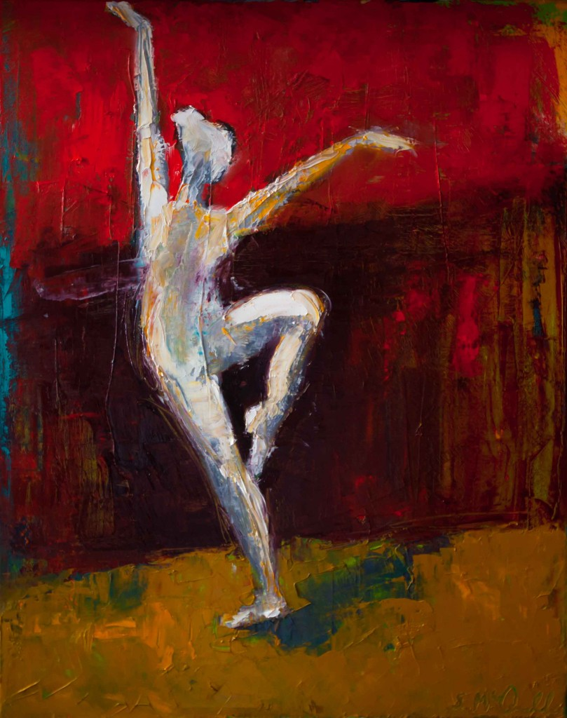 abstract figurative, oil painting, dancer,