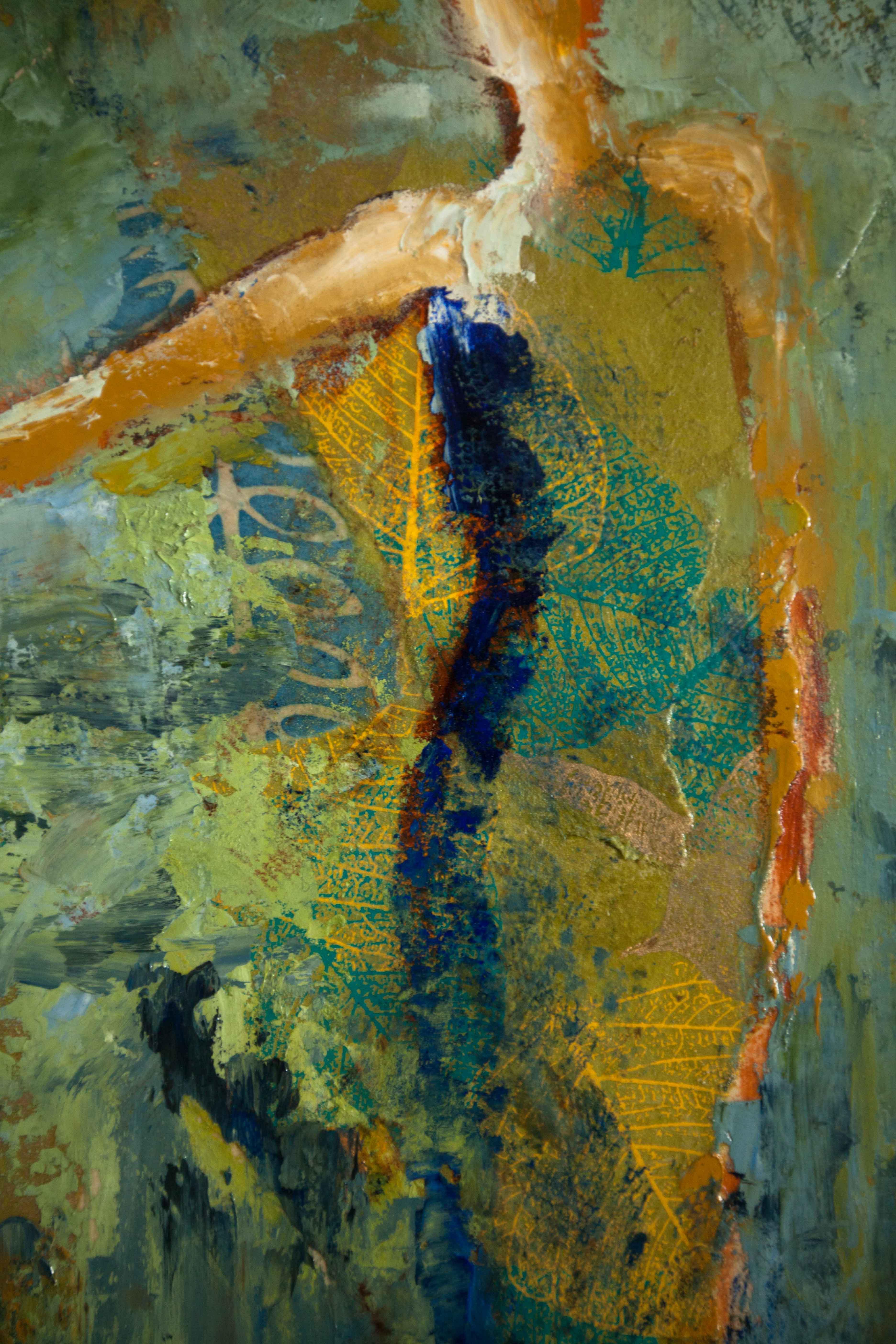 Abstract Figurative Mixed Media Art